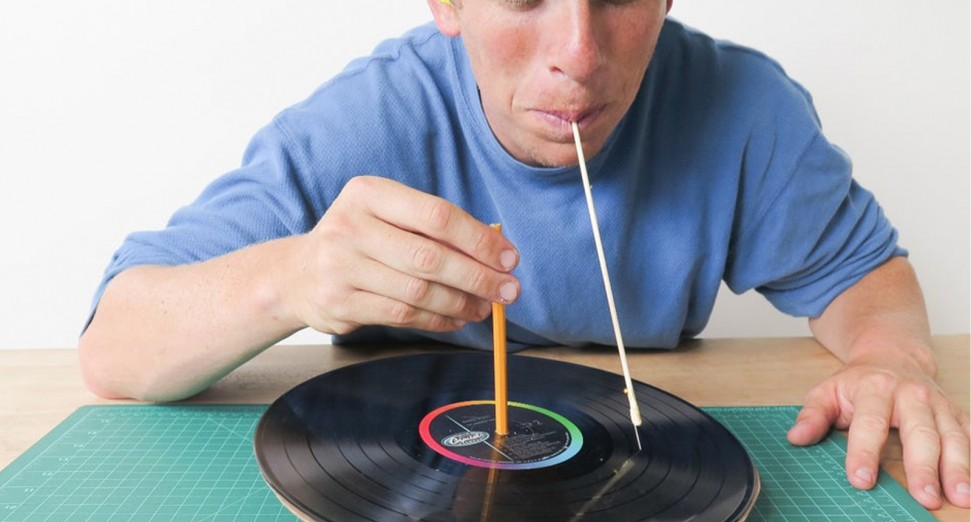 Listen to records using your teeth using this set-up