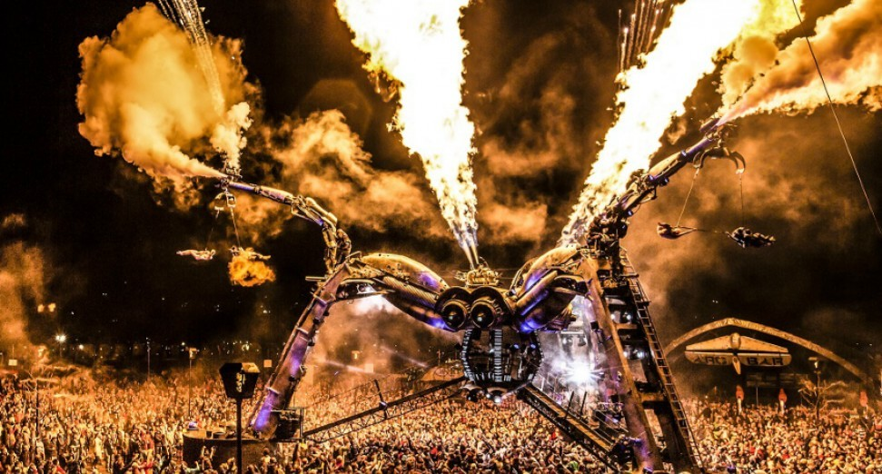 Arcadia's Spider DJ stage features in school science textbook